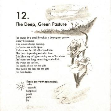 deep green pastures