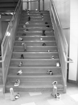 50 Boots on the Stairs